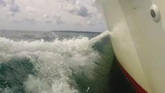 Boat Point Of View Bow Wave Stock Footage