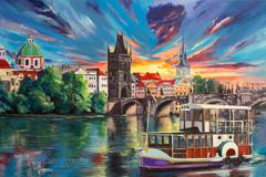 Prague's Fairytales Stock Illustration