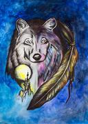 Stock Illustration of Wolf
