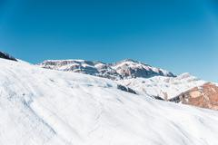 Winter mountains in Gusar region of Azerbaijan - stock photo