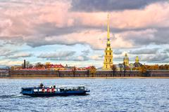 St. Petersburg, Russia, Peter and Paul fortress - stock photo
