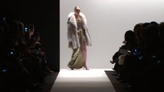 Dennis Basso Fashion Show Fall 2015 Collection NYFW - Full Length Stock Footage