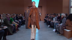 Derek Lam Fashion Show Fall 2015 Collection NYFW 03 Stock Footage