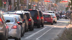 Downtown Toronto traffic gridlock and congestion Stock Footage