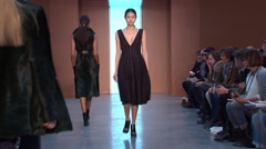 Derek Lam Fashion Show Fall 2015 Collection NYFW 04 Stock Footage