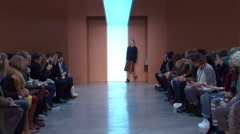 Derek Lam Fashion Show Fall 2015 Collection NYFW 05 Stock Footage