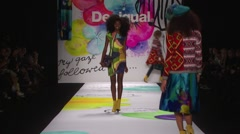 Desigual Fashion Show Fall 2015 Collection NYFW 02 Stock Footage