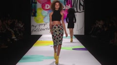Desigual Fashion Show Fall 2015 Collection NYFW 04 Stock Footage