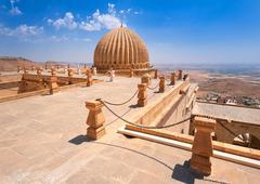 Dome of Zinciriye Medrese, Mardin, south east Turkey - stock photo