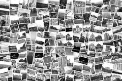 Asymmetrical mosaic mix collage of 200+ photos - stock photo