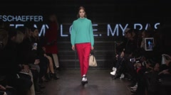 DKNY Fashion Show Fall 2015 Collection NYFW 02 Stock Footage
