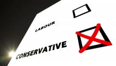 Vote CONSERVATIVE - stock footage