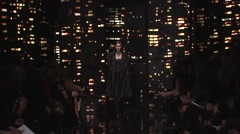 Donna Karan Fashion Show Fall 2015 Collection NYFW 01 Stock Footage