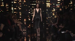 Donna Karan Fashion Show Fall 2015 Collection NYFW 02 Stock Footage