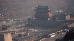 Main entrance of great wall panorama china Stock Footage