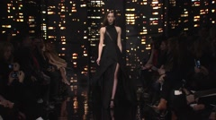Donna Karan Fashion Show Fall 2015 Collection NYFW 05 Stock Footage