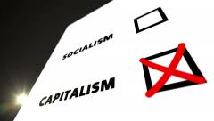Vote CAPITALISM Stock Footage