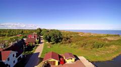 The beautiful village of Nina Kasepaa in Estonia Stock Footage