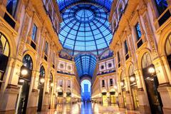 Galleria Vittorio Emanuele II, Milan, Italy - stock photo