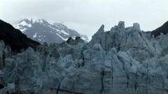 Alaskan Margerie Glacier Close up Stock Footage