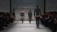 Etxeberria Fashion Show Fall 2015 Collection NYFW 03 Stock Footage
