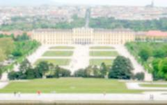 Stock Photo of Defocused Background with Schonbrunn Palace in Vienna, Austria. Intentionally