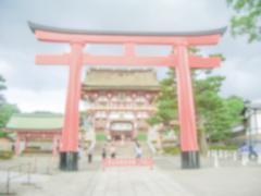 Defocused Background of Fushimi-Inari Temple, Kyoto, Japan - stock photo