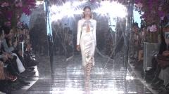 Gabriela Cadena Fashion Show Fall 2015 Collection NYFW 01 Stock Footage