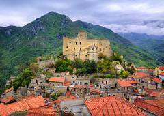 Castelvecchio di Rocca Barbena, Liguria, Italy - stock photo
