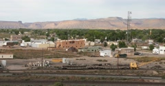 Green River Utah pan tight shot Stock Footage