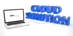 Cloud Solution - stock illustration