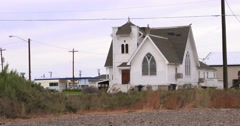 Old church low shot Stock Footage