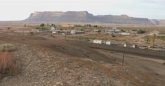 Green River Utah slow pan wide Stock Footage