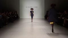 Georgine Fashion Show Fall 2015 Collection NYFW 03 - stock footage