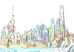 shanghai - stock illustration