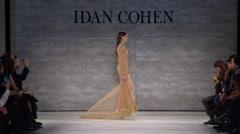 Idan Cohen Fashion Show Fall 2015 Collection NYFW 05 Stock Footage