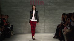 iiJin Fashion Show Fall 2015 Collection NYFW 01 - stock footage