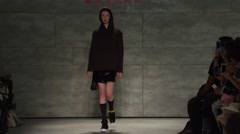 iiJin Fashion Show Fall 2015 Collection NYFW 04 - stock footage