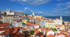 Stock Photo of Panoramic view of Alfama quarter, Lisbon, Portugal