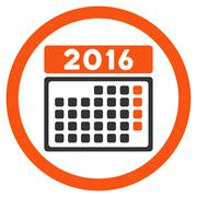 Stock Illustration of 2016 Month Appointment Icon