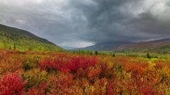Salekhard fall season rainy sky panorama 4k time lapse russia Stock Footage