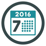 2016 Week Appointment Icon - stock illustration