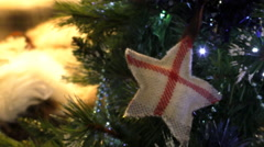 English symbol on Christmas tree Stock Footage