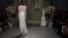 Jenny Packham Bridal Fashion Show Fall 2015 Collection NYFW 02 Stock Footage