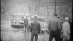 2747 - flood hits small town homes & businesses - vintage film home movie Stock Footage