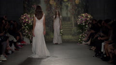 Jenny Packham Bridal Fashion Show Fall 2015 Collection NYFW 06 Stock Footage