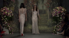 Jenny Packham Bridal Fashion Show Fall 2015 Collection NYFW 07 Stock Footage