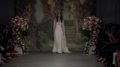 Jenny Packham Bridal Fashion Show Fall 2015 Collection NYFW - Full Length Stock Footage
