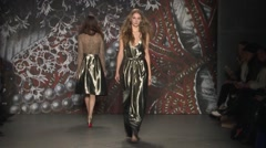 Jenny Packham Show Fall 2015 Collection NYFW 04 Stock Footage