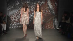 Jenny Packham Show Fall 2015 Collection NYFW 06 Stock Footage